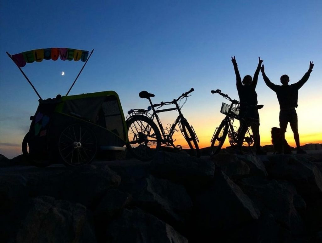 Entspannt reisen mit Rad und Hund (velo.weit)